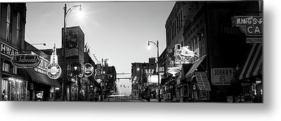 Buildings In A City At Dusk, Beale Metal Print by Panoramic Images