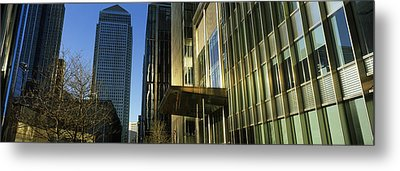 Buildings In A City, Canada Square Metal Print by Panoramic Images