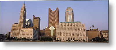 Buildings In A City, Columbus, Franklin Metal Print by Panoramic Images