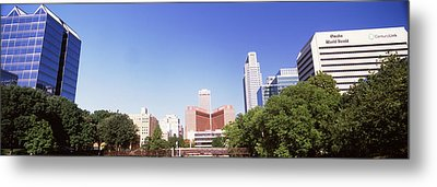 Buildings In A City, Qwest Building Metal Print by Panoramic Images