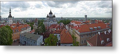 Buildings In A City, St. Nicholas Metal Print by Panoramic Images