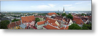 Buildings In A City, Tallinn, Estonia Metal Print by Panoramic Images