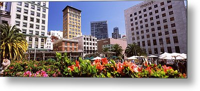 Buildings In A City, Union Square, San Metal Print by Panoramic Images