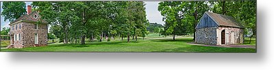 Buildings In A Farm, Washingtons Metal Print by Panoramic Images