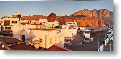 Buildings In A Town, Puerto De Las Metal Print by Panoramic Images