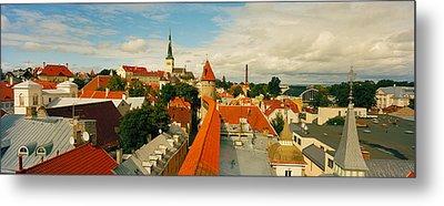 Buildings In A Town, Tallinn, Estonia Metal Print by Panoramic Images