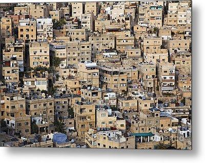Buildings In The City Of Amman Jordan Metal Print by Robert Preston