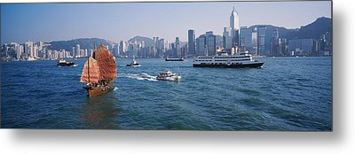 Buildings On The Waterfront, Kowloon Metal Print by Panoramic Images
