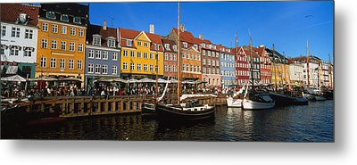 Buildings On The Waterfront, Nyhavn Metal Print by Panoramic Images