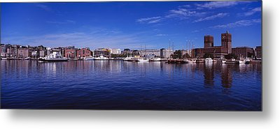 Buildings On The Waterfront, Oslo Metal Print by Panoramic Images