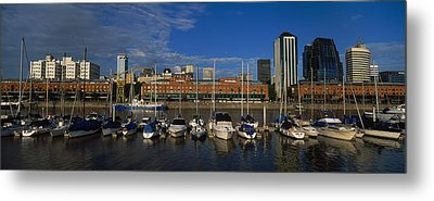 Buildings On The Waterfront, Puerto Metal Print by Panoramic Images