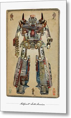 Built American Tough Robot No.2 Metal Print