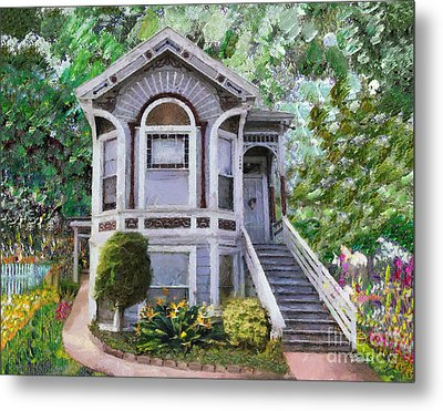 Alameda 1895 Queen Anne Metal Print by Linda Weinstock