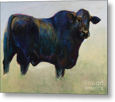 Bull Metal Print by Frances Marino