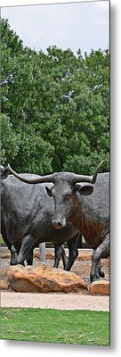 Bull Market Quadriptych 3 Of 4 Metal Print by Christine Till