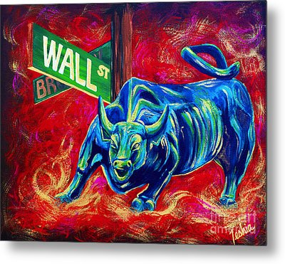 Bull Market Metal Print by Teshia Art
