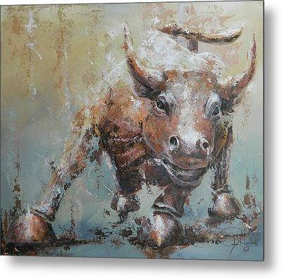 Bull Market Y Metal Print
