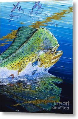 Bull Reflection Off0032 Metal Print by Carey Chen