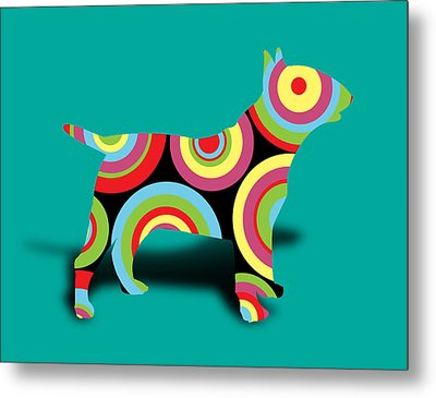 Bull Terrier Metal Print by Mark Ashkenazi