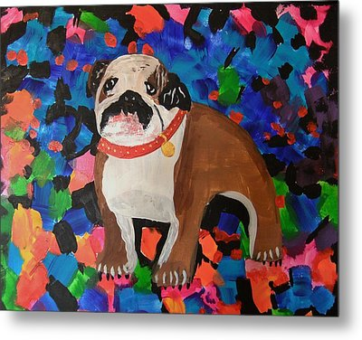 Bulldog Abstract Metal Print by Ryan Griswold