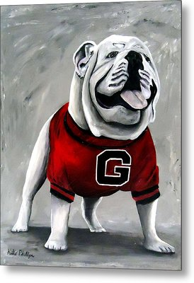 Uga Bullog Damn Good Dawg Metal Print