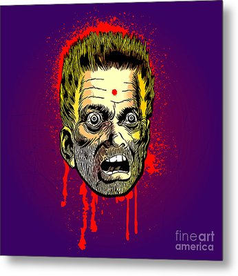 Bullet Head Metal Print by Sasha Keen