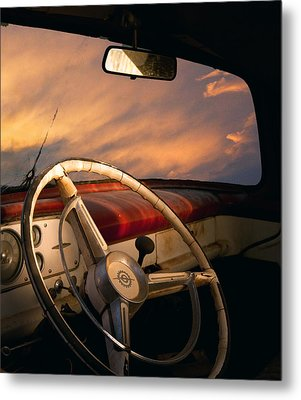 Bullet Hole Metal Print by William Schmid