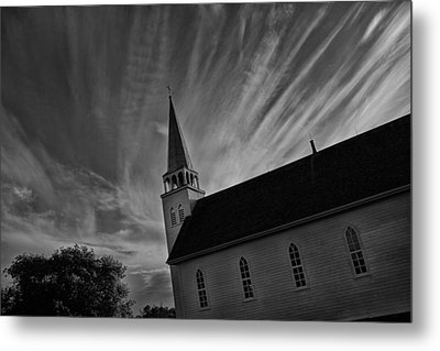 Metal Print featuring the photograph Bullet Riddled Church by Ryan Crouse