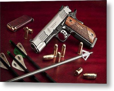 Bullets And Broadheads Metal Print by Tom Mc Nemar