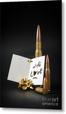 Bullets For You Metal Print by Carlos Caetano