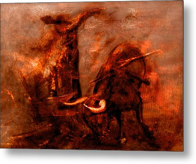 Bullfight Metal Print by Kim Gauge