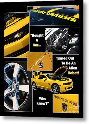 Bumble Bee-robot - Poster Metal Print by Gary Gingrich Galleries