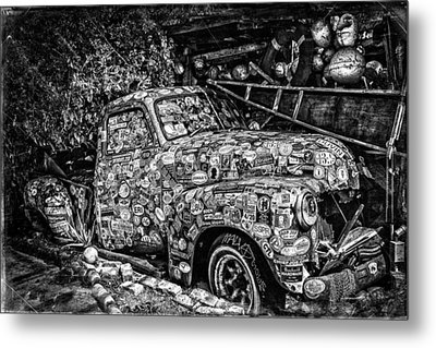 Bumper Sticker Pickup Metal Print by Robert FERD Frank