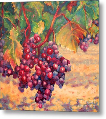 Bunch Of Grapes Metal Print by Carolyn Jarvis
