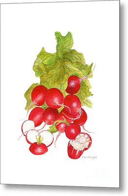 Bunch Of Radishes Metal Print