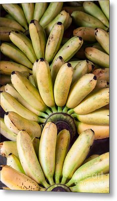 Bunch Of Ripe Bananas Background Metal Print