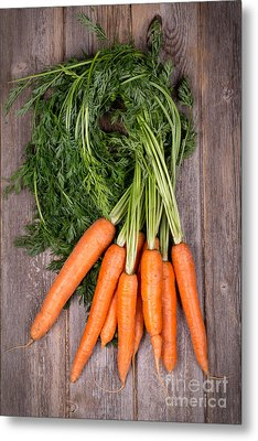 Bunched Carrots Metal Print