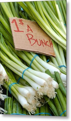 Bunches Of Onions Metal Print by Teri Virbickis