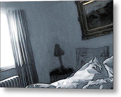 Bungalow Bedroom Metal Print by David Blank