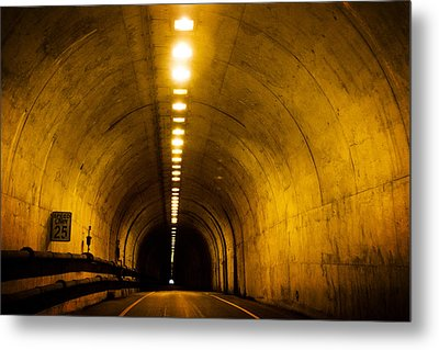 Bunker Road Tunnel Metal Print by SFPhotoStore