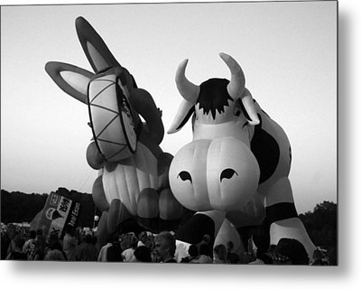Bunny And Cow In Infra Red Metal Print