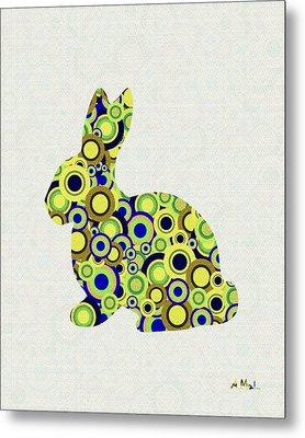 Bunny - Animal Art Metal Print by Anastasiya Malakhova