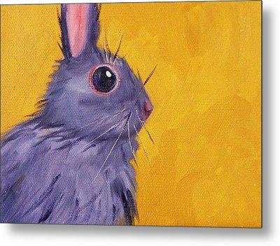 Bunny Metal Print by Nancy Merkle