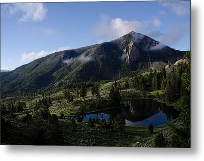 Bunsen Peak Reflection Metal Print