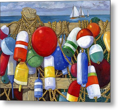 Buoy Composition Metal Print by Paul Brent