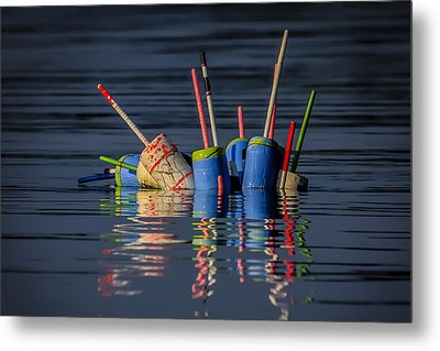 Buoy Mess Metal Print by Dave Cleaveland