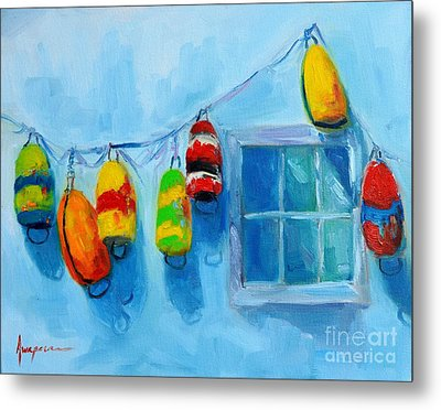 Painted Buoys And Boat Floats  Metal Print by Patricia Awapara
