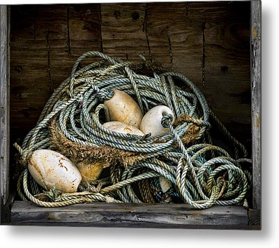 Buoys In A Box Metal Print by Carol Leigh