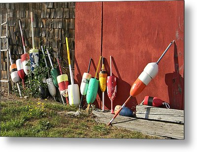 Buoys Metal Print by Jean Goodwin Brooks