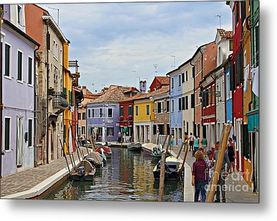 Metal Print featuring the photograph Burano Island by Cendrine Marrouat